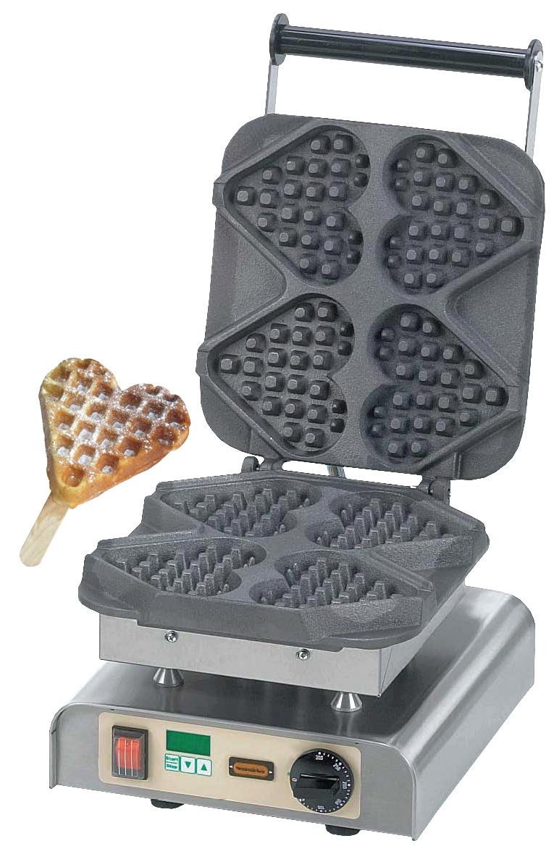Stick On A Waffle Iron ~ Waffle maker hearts on a stick mr
