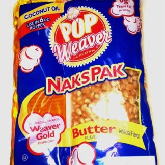 pop weaver nakspak 6oz popcorn kit