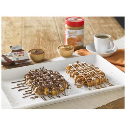liege waffle biscoff nutella spread