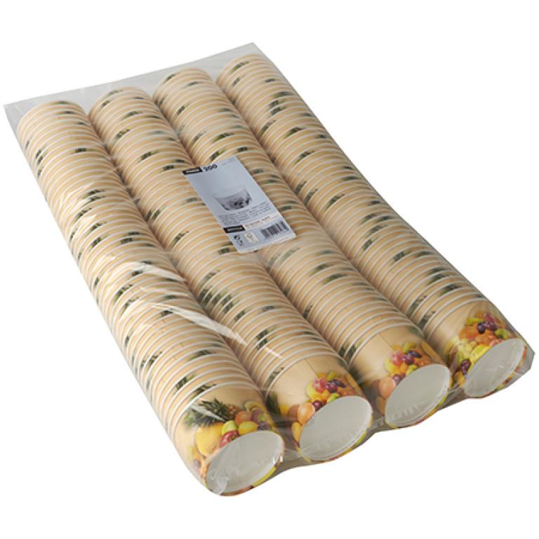 Glassbägare, Papper rund 125 ml, 200st
